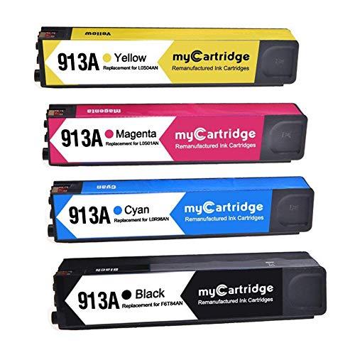 Mycartridge compatibile HP 913A rigenerata cartucce d'inchiostro per HP PageWide Pro 352dw 377dw-MFP 452dwt 452dw-MFP 477dwt 477dw-MFP stampante (nero/ciano/magenta/giallo)