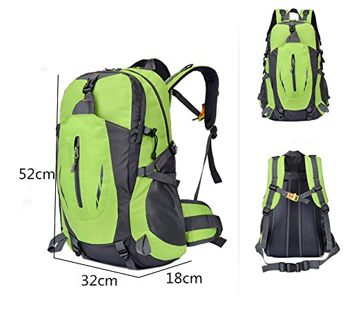 Zaino ultraleggero Escursionismo viaggio all'aperto arrampicata borsa borsa anti-spruzzi vano (40 L), Orange green