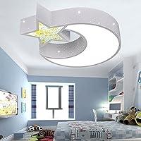 Cosa de Niños Salón de luces LED de atenuación de iluminación simple y moderna lámpara de techo cálido salón dormitorio luces ( Color : Pequeño 52cm )