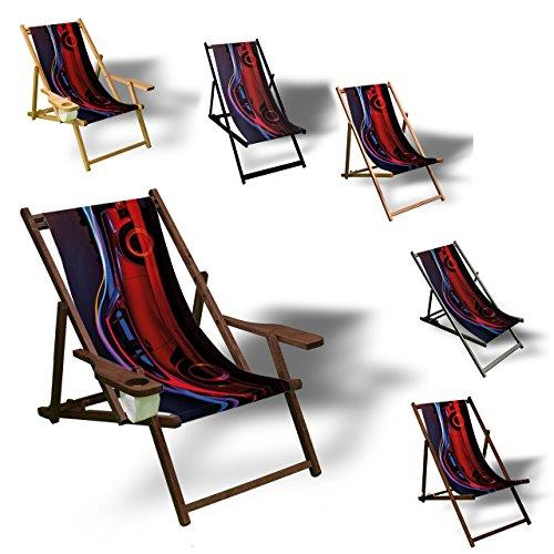 Printalio Porsche Aero - Liegestuhl Bedruckt Balkon Garten Sonnenliege Relax Holz Terrasse | mit...