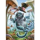 BaZhaHei 5D Diamant Malerei Stickerei Gemälde Strass eingefügt DIY Kreuzstich Stickerei Vollbohrer Home Kätzchen 30 * 40cm