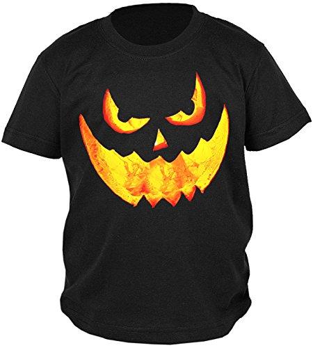 Lustige Kostüme Jungs (Kinder Halloween T-Shirt - Kindershirt Halloweenparty : Halloween Pumpkin -- Kinder Tshirt Grusel Gesicht Kürbis Gr:)
