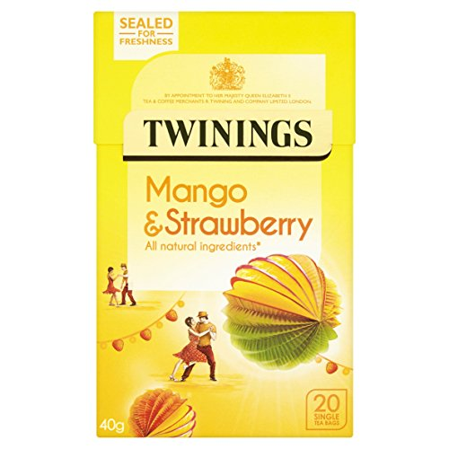 Twinings Strawberry and Mango 20 Tea Bags (Pack of 4, total 80 Tea Bags)