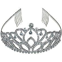 Princesa corona Tiara diamante Pageant Tiaras diadema cabeza pelo peine