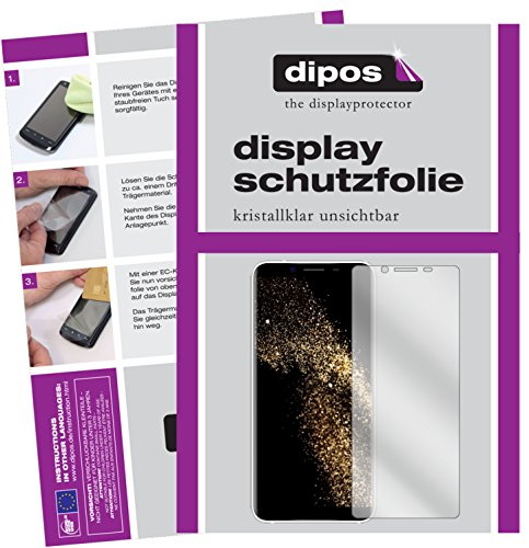 dipos I 2X Schutzfolie klar passend für HOMTOM S8 Folie Displayschutzfolie
