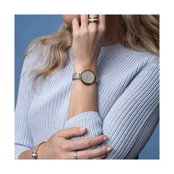 BERING Reloj Analógico para Mujer de Cuarzo con Correa en Acero Inoxidable