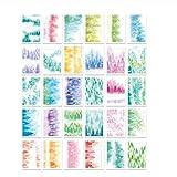 QLRL 30 pièces/Ensemble de forêt Originale Aquarelle Peinte à la Main Carte Postale/Carte de voeux/Carte de Message/Carte-Cadeau Anniversaire Lettre enveloppe...