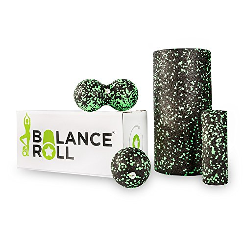 Balance Roll - Komplett Set - Faszienrolle - Made in Germany (Rolle groß, Rolle klein, Ball & Duoball)
