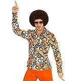 Schlagermove Herrenhemd - XXL - Hippie Outfit 60er Jahre Kleidung Schlager Kostüm Shirt Peace Verkleidung Klamotten 70er Jahre Hemd Herren
