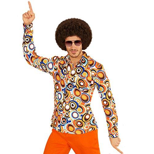 Schlagermove Herrenhemd - L/XL (52/54) - Hippie Outfit 60er Jahre Kleidung Schlager Kostüm Shirt Peace Verkleidung Klamotten 70er Jahre Hemd Herren (Herren 60er Jahre Kostüme)