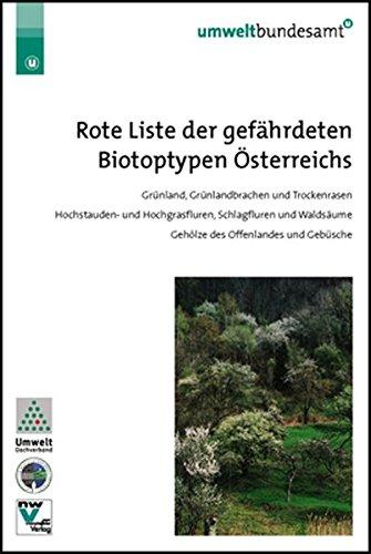 Rote Liste der gefährdeten Biotoptypen Österreichs: Grünland, Grünlandbrachen und Trockenrasen, Hochstauden- und Hochgrasfluren, Schlagfluren und Waldsäume, Gehölze des Offenlandes und Gebüsche