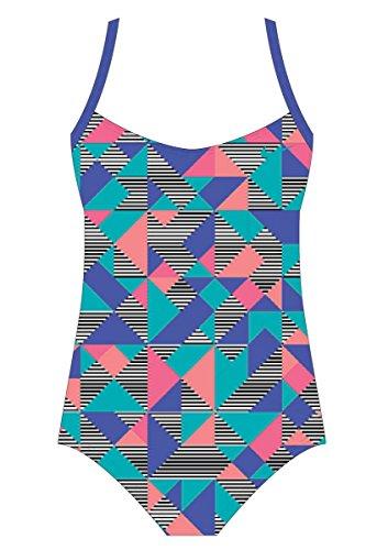 Nike girl 's Optik Pop Racerback Tank Badeanzug paramountblue, Mädchen, Paramountblue (Für Nike Spandex Mädchen)