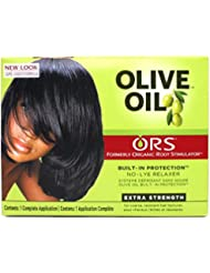 Organic Root Stimulator Huile d'olive No de Lye Hair Relaxer Extra Strengh