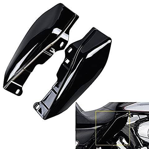 ECLEAR 1 Set Mid-Frame Air Deflectors Fairing Side Cover Shield For Harley Touring Street Road Tri Glide 2009-2016 - Black