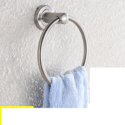 anneau de serviette de bain/pendentifs non perforés/anneau en acier inoxydable de serviette/porte-serviettes rond-B