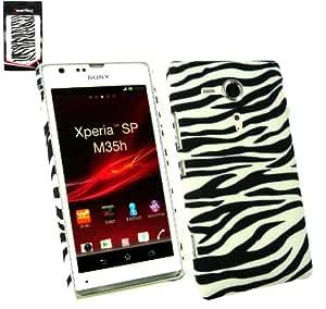 Emartbuy® Sony Xperia SP Zebra Schwarz / Weiß Clip On Protection Case / Cover / Haut
