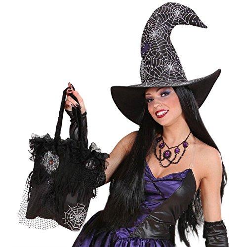 Bolso de bruja de halloween accesorio bolsa telarañas góticas mujeres carnaval