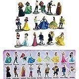 Set Completo 18 Mini Figuras de Colleccion 4cm PRINCESAS y PRINCIPES Disney ORIGINAL Bully Bullyland