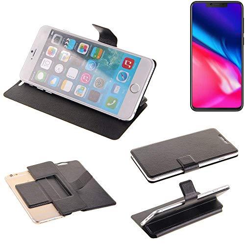 K-S-Trade Schutz Hülle für Cubot P201 Schutzhülle Flip Cover Handy Wallet Case Slim Handyhülle bookstyle schwarz