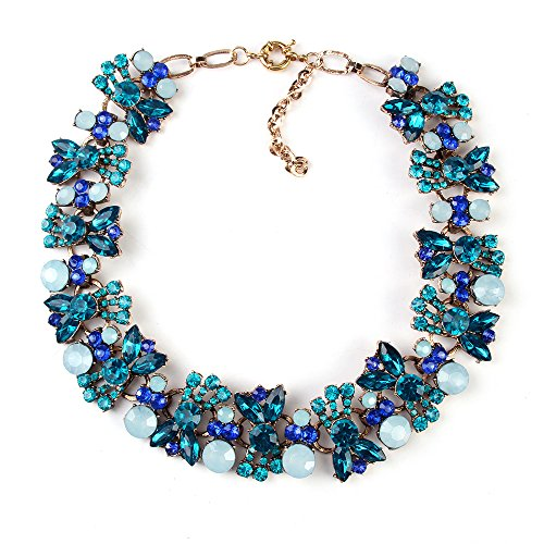 twopages-rhinestone-chunky-choker-crystal-flower-statement-necklace-blue-jewelry-gifts-for-women-gir