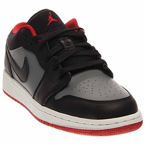 Nike Jungen Air Jordan 1 Low BG Turnschuhe, Rot/Grau (Schwarz/Gym Red-Cool Grey), 39 EU (Jordans Grau Und Air Schwarz)