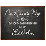 IB Laursen Metallschild - Text: Der kürzeste Weg ... - Metall - (LxH): 35 x 26 cm