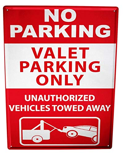 Metal Sign 12x16 Inches Poster Plaque Tin Plate Vintage Plaque Garage No Parking Gas Stations Vintage - Gas Station Sign Display