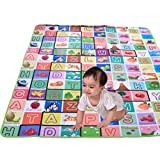 Toyboy 100% Waterproof, Double Side Baby Play & Crawl Puzzle Mat (Large- 6'X5')