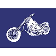 Rayher 4503200 - Plantilla de estarcido (lámina DIN A4, incluye raspador), diseño de moto Chopper