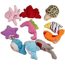 Malloom® 10 piezas Océano Animal suave Títeres de dedo Bebé Niña Niño Juguetes dedo juguete De Peluche
