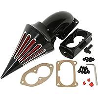 TengChang motocicleta Negro Espiga Kit de filtro de admisión de filtro de aire para Kawasaki Vulcan