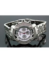 AQUA MASTER 96-90 - Reloj para hombres, correa de acero inoxidable color negro