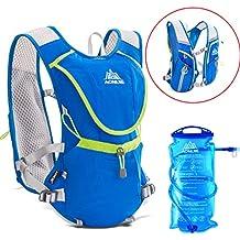 Geila Aire libre Trail Running Race Marathoner La hidratación del chaleco de hidratación Mochila con vejiga 1 Agua (azul)
