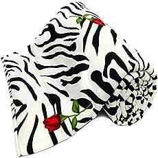 TRUSTFUL Cotton Zebra Print with Red Rose Design Printed Double Bed Reversible AC Blanket   Dohar   Quilt   Comforter   Duvet (Polycotton, Multicolor)