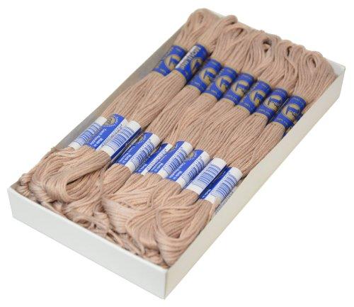 maDDma ® 1 Docke Stickgarn/Sticktwist 100% Baumwolle #7322 Grey Sand - 2g Sand