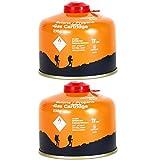 Yellowstone GA010 2 x Schraubkartusche Ventil Gas Kartusche Kocher Butan Propan 230 g