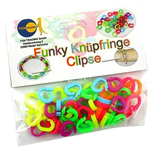 Loops 4302 - Funky Knüpfringe, Armbänder Zubehör Heftklammern 50 Stück