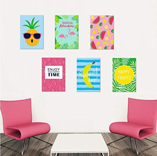 Preisvergleich Produktbild GLYOUNG Wandaufkleber Ananas Wassermelone Banane Lebensmittel Obst Lustige Bild Wandtattoo Küche Home Decor Kinder Schlafzimmer Dekor