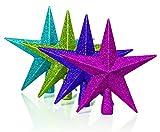20cm Kalk Glitter Baum Top Star - Weihnachtsbaum Dekorationen