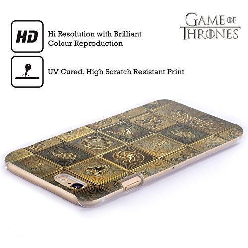 Ufficiale HBO Game Of Thrones All Houses Sigilli Dorati Cover Retro Rigida per Apple iPhone 5 / 5s / SE All Houses