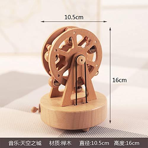 sel Music Box Swings Eight Sound Box Birthday Girl Gift European Sky City Ballet Girl Ferris Wheel ()