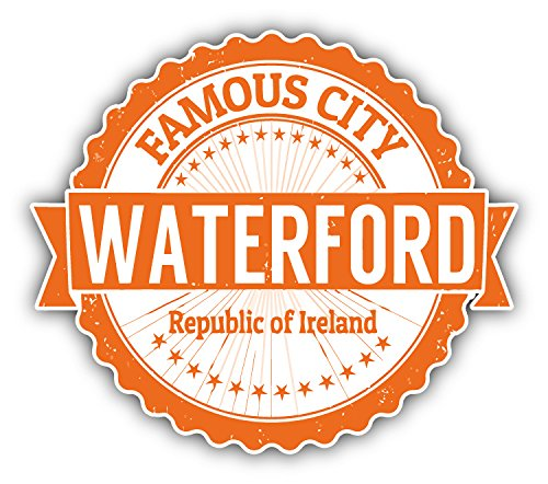 Waterford City Ireland Grunge Travel Stamp Hochwertigen Auto-Autoaufkleber 12 x 10 cm