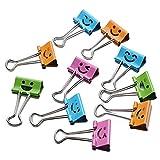 TianranRT 10 Stück Lächeln Metall Clip Niedlich Binder Clips Album Papier Schreibwaren Büro