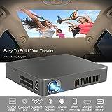 Sans fil 3D DLP projecteur Bluetooth 4, 0 Dual WiFi AirPlay Miracast Built-in batterie-pour la maison Cinema Theatre School Bureau PPT présentation Camping utilisation (UK Plug)