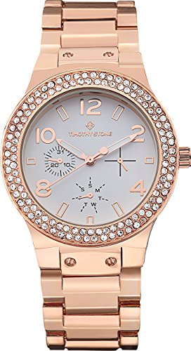 Timothy Stone FAÇON STAINLESS Rose Gold Women's Design Watch 39mm