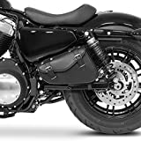 Harley Davidson Sacoche pour gauche XL 883 1200 compatible Sportster 48 1200X Super Low Nightster 1200N et Iron 883I Forty Eight Seventy Two 72 Custom Roadster 1200R