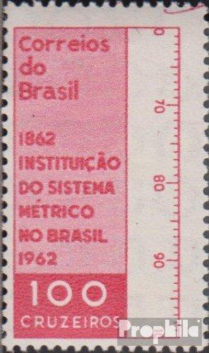 Prophila Collection Brasilien 1018 (kompl.Ausg.) 1962 Metrisches System (Briefmarken für Sammler)