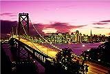 wjwei 70X100 cm, New York Brooklyn Bridge Leinwand Malerei Stadt Nacht Landschaft Kunst Bild Für Wohnzimmer Wand-Dekor Große Größe 40X60 cm Kein Rahmen Yx-2173