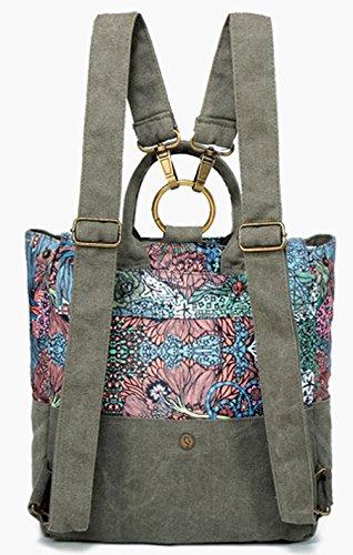 Keshi Leinwand Cool Damen accessories hohe Qualität Einfache Tasche Schultertasche Freizeitrucksack Tasche Rucksäcke Mehrfarbig 3