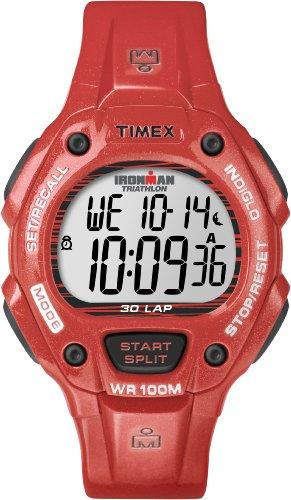 Damen-uhr Rot Timex (Timex Unisex-Armbanduhr Sport Digital Quarz Plastik T5K686)
